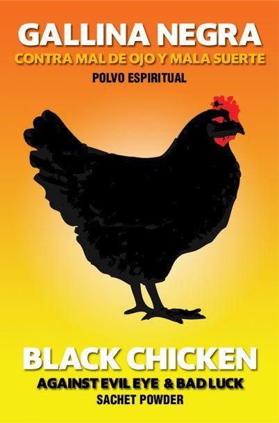 SACHET POWDER IN ENVELOPE BLACK CHICKEN AGAINST BAD LUCK