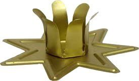 METAL SEVEN POINTED STAR CANDLE HOLDER 2