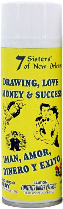 7 SISTERS AEROSOL SPRAY DRAWING LOVE MONEY & SUCCESS