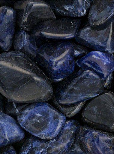 Sodalite Tumbled Stones 1 Lb