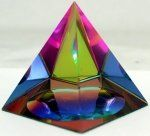 CRYSTAL IRIDESCENT PYRAMID - RAINBOW COLORS
