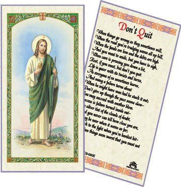 098a60e328b HOLY CARD ST. JUDE DON'T QUIT