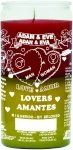 Adam & Eve Lovers Red/Yellow Candle - Silkscreen 2 Color 14 Day