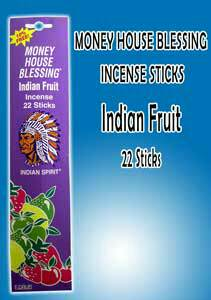 MONEY HOUSE BLESSING INCENSE STICKS INDIAN FRUIT