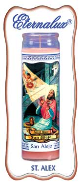 ETERNALUX RELIGIOUS 7 DAY CANDLE ST. ALEX - PINK