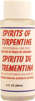 how to clean with turpentine