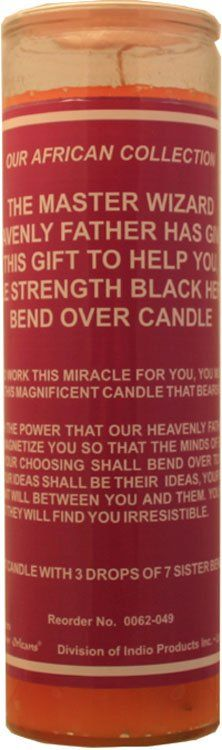 1 X 7 Day Glass Candle Reversible Black and Red