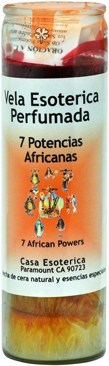 7 African Powers 7 Colors Candle - Esoteric Palm Oil Wax