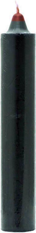 9 INCH REVERSIBLE JUMBO PILLAR CANDLE - RED INSIDE BLACK OUTSIDE