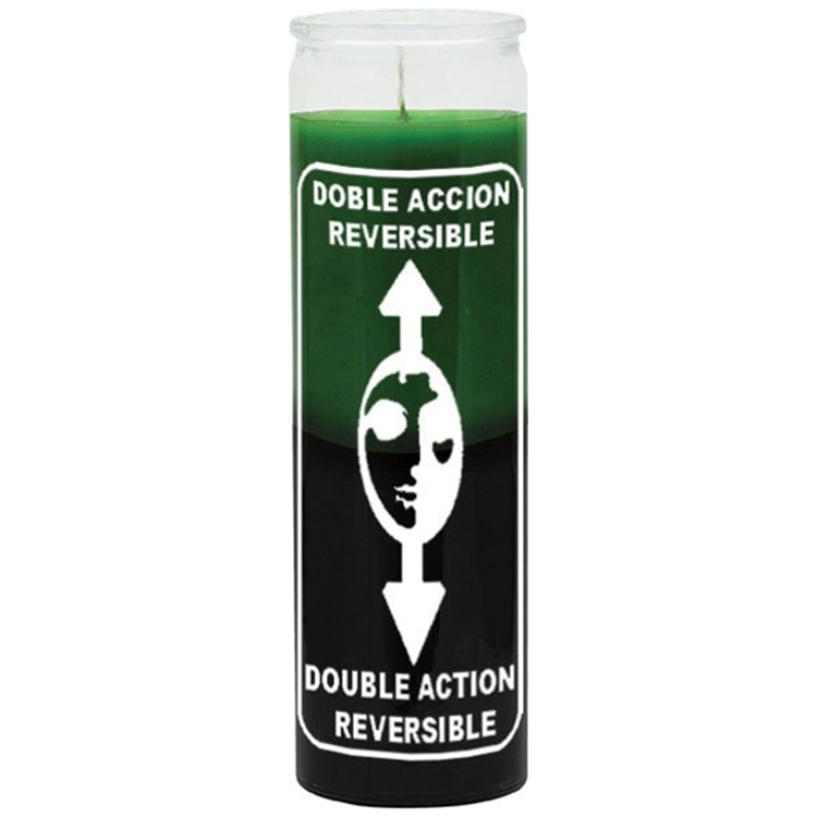 CANDLE 7 DAY REVERSIBLE GREEN/BLACK