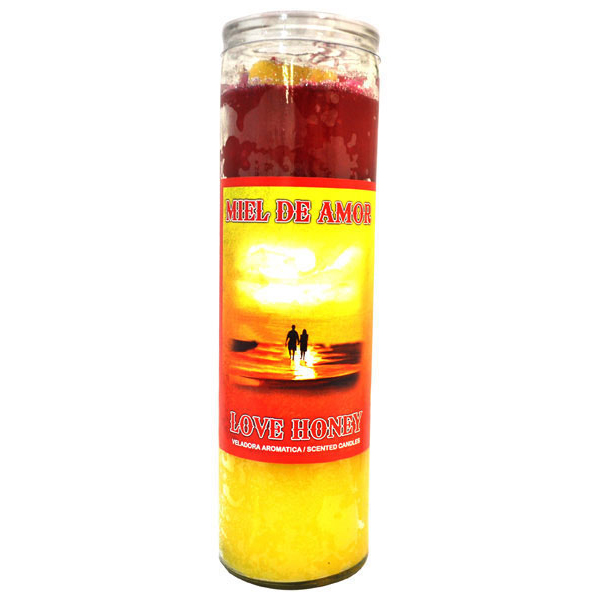 Scented Cocktail Candle Love Honey - Yellow & Red