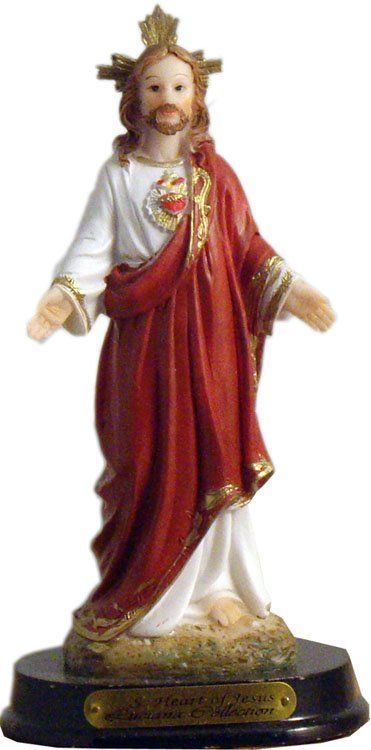 STATUE SACRED HEART OF JESUS 5 inch
