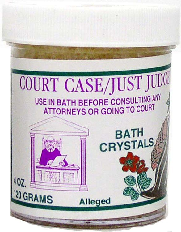 7 SISTERS BATH CRYSTALS COURT CASE/JUST JUDGE